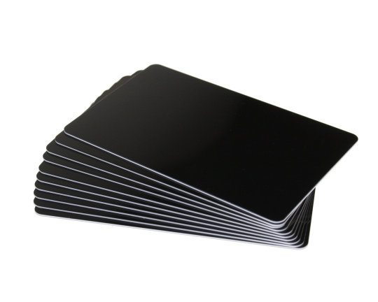 black plastic cards