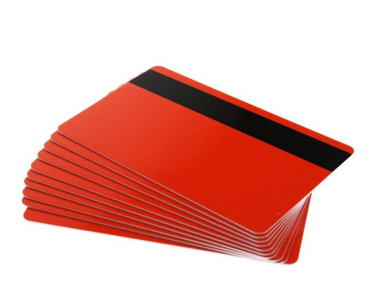 Red Magstripe Cards