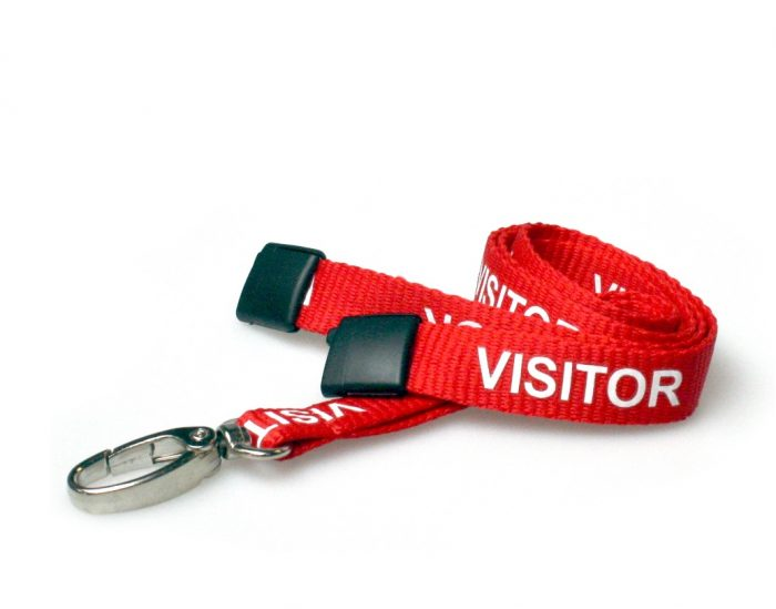 Red Visitor Lanyards