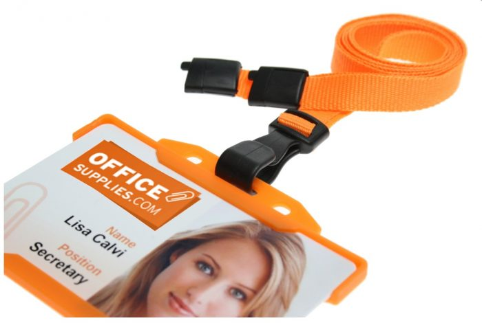 orange lanyards