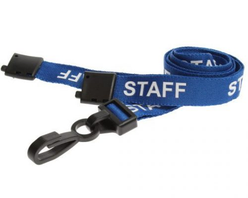 blue staff lanyard