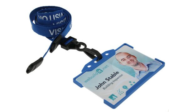Blue Visitor Lanyards