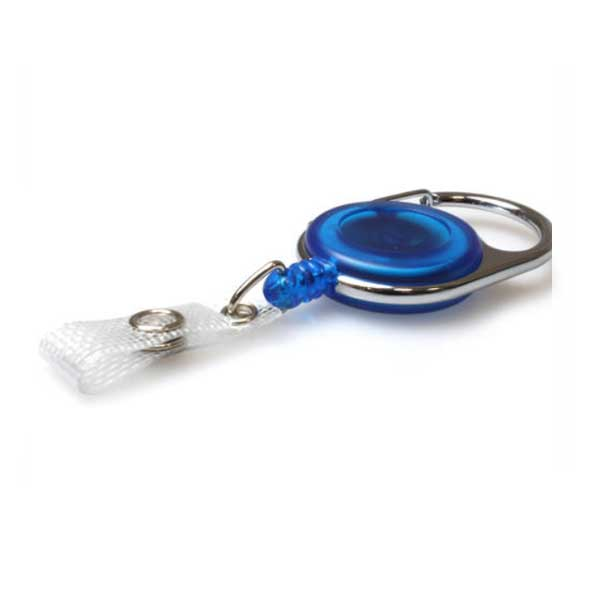 blue carabiner badge reel