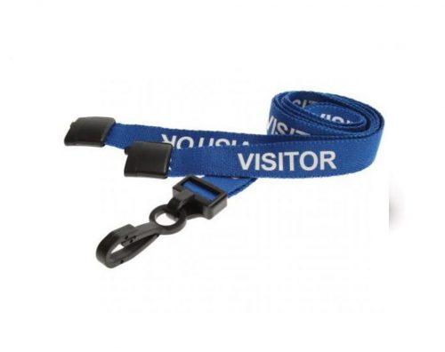 blue visitor lanyard