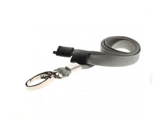 grey lanyards metal clip
