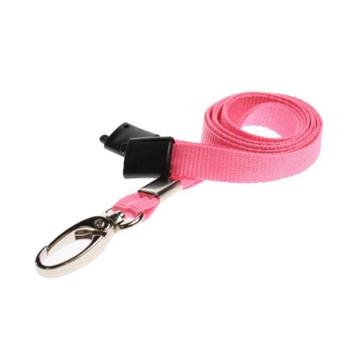 pink lanyard metal clip