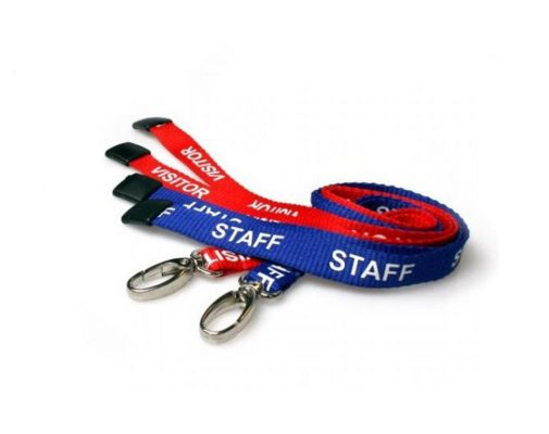 pre printed staff visitor lanyards