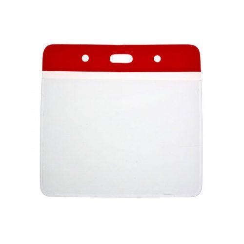 red vinyl holder