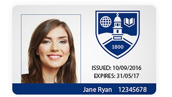 Printed student id cards