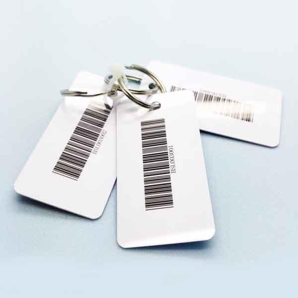 printed plastic key tags