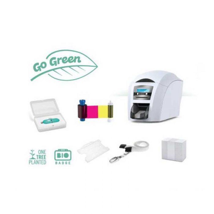 go green id card printer bundle