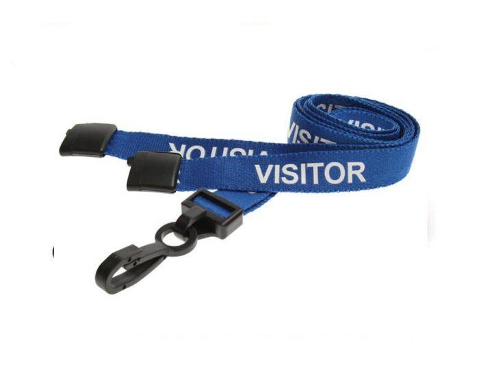 blue visitor lanyards