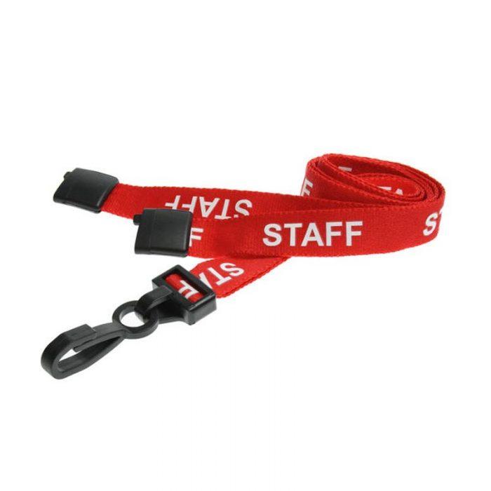 red staff lanyards